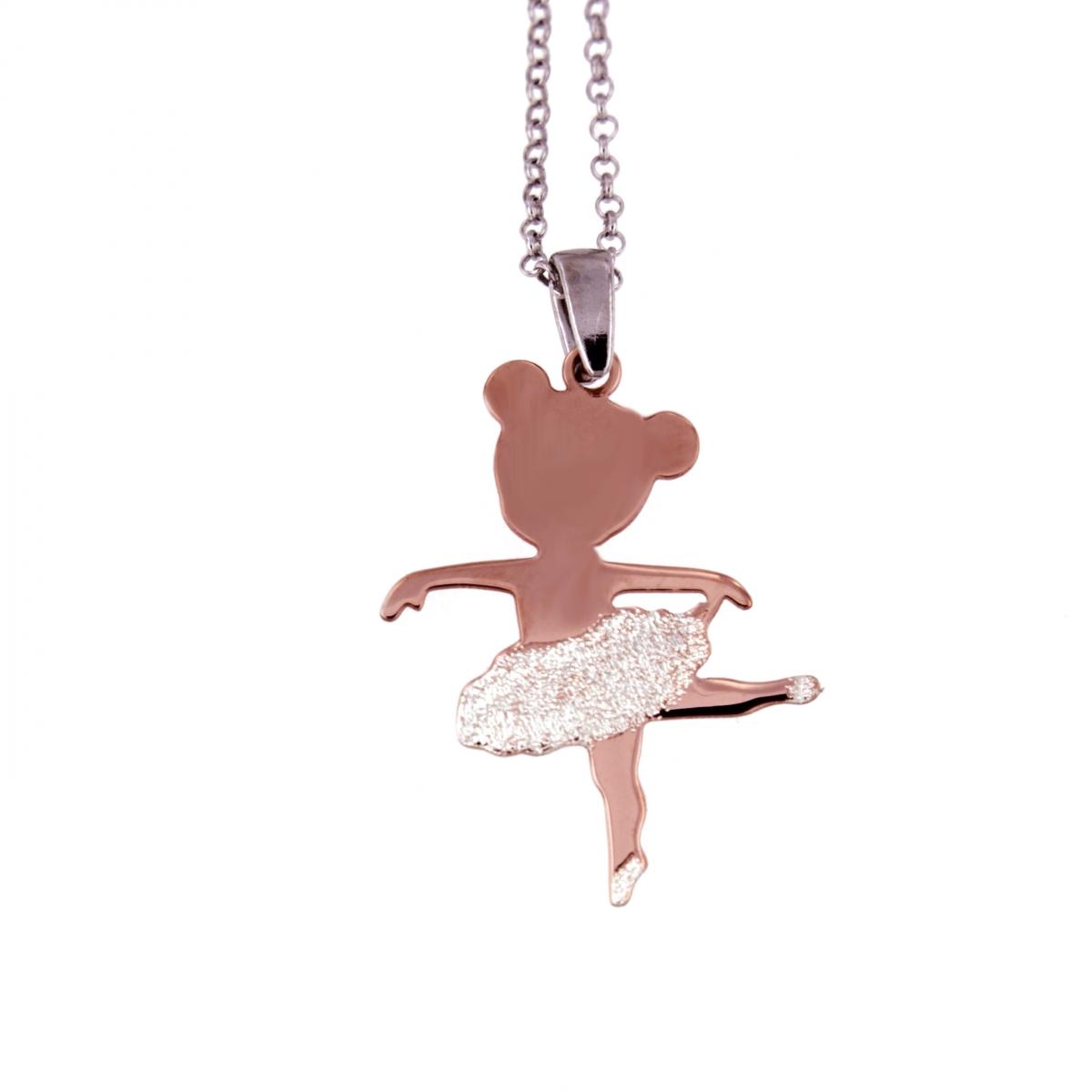f0fd938200 collana ballerina saggio danza argento diamantato - Moun Jewels ...
