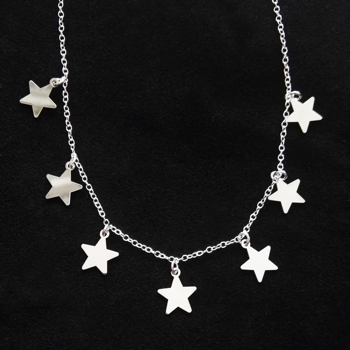 più recente 290c5 f16c1 Girocollo con 7 stelle | Tendenze collane in argento 925 ...
