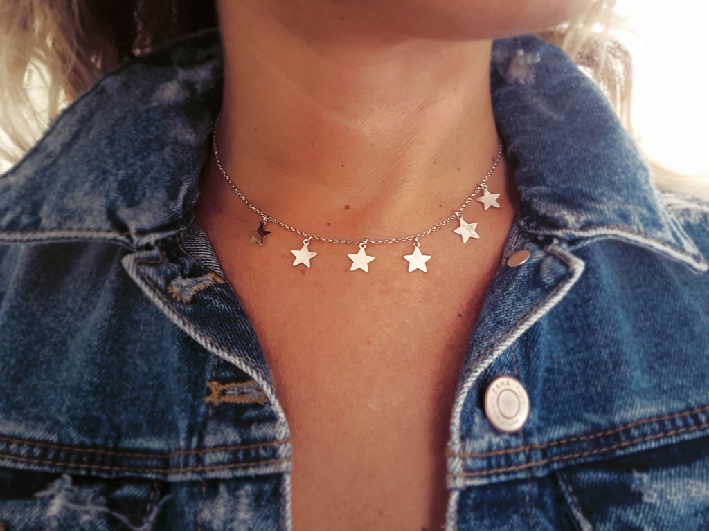 metà fuori e00d4 10730 Girocollo con 7 stelle | Tendenze collane in argento 925 - Moun ...