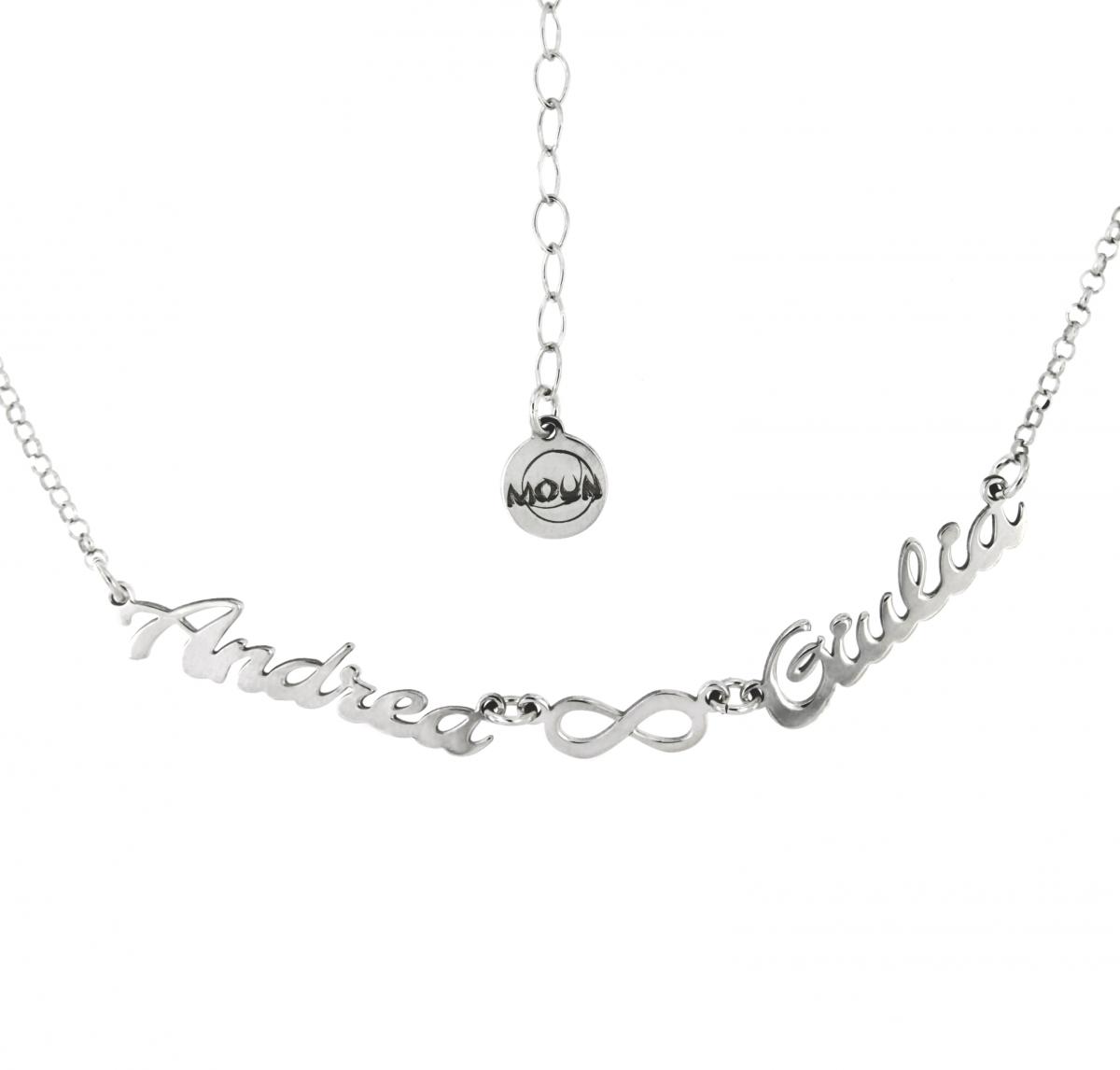 dc19d64f3e collana argento con nomi e infinito - Moun Jewels | Produzione ...