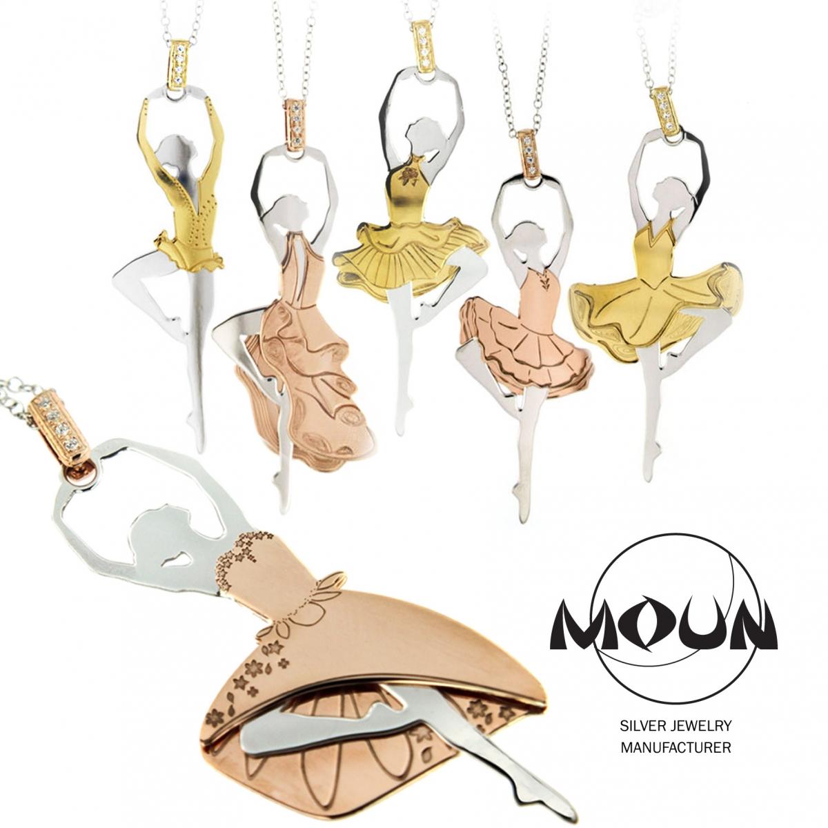 91769cca47 Collana d'argento con ballerina con tutu corto | Made in Italy | Moun.it  official store - Moun Jewels | Produzione Gioielleria in Argento 925 | Made  in ...
