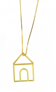 Collana Home Sweet Home in Argento placcato oro